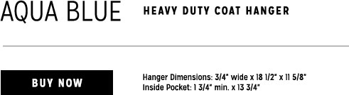 blue heavy duty coat hanger