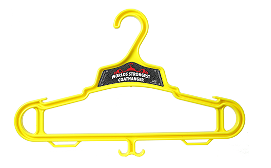 Yellow Heavy Duty Coat Hanger