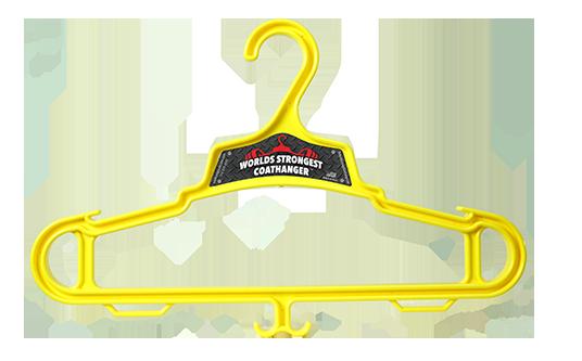 Yellow Heavy Duty Coat Hanger