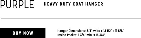 purple heavy duty coat hanger